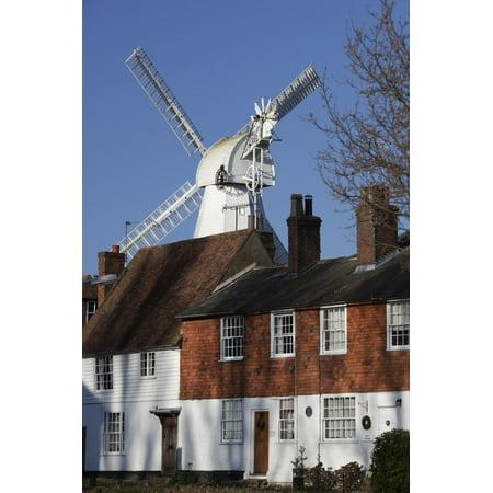 Union Mill and Traditional Kent Houses, Cranbrook, Kent, England, United Kingdom, Europe Print Wall Art By Stuart