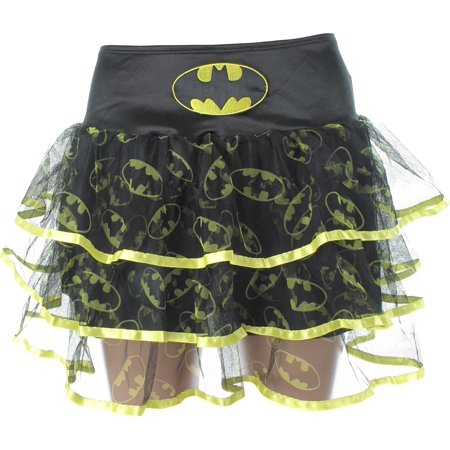 Batman Logo All Over Print Yellow Trim - Batman Skirt