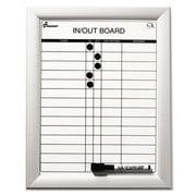 7520014845261 Skilcraft Quartet Magnetic In/Out Board 11 X 14 Aluminum Frame Qty: 1 7520-01-484-5261