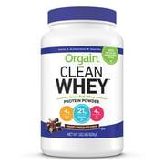 Orgain Grass Fed Whey Protein Powder, Chocolate, 21g Protein, 1.8lb, 28.8oz