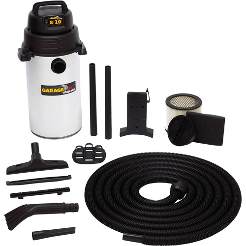Shop-Vac 8 Gallon 2.0 Peak HP 2-Stage Motor Wall-Mounted Garage Vacuum, 92538000