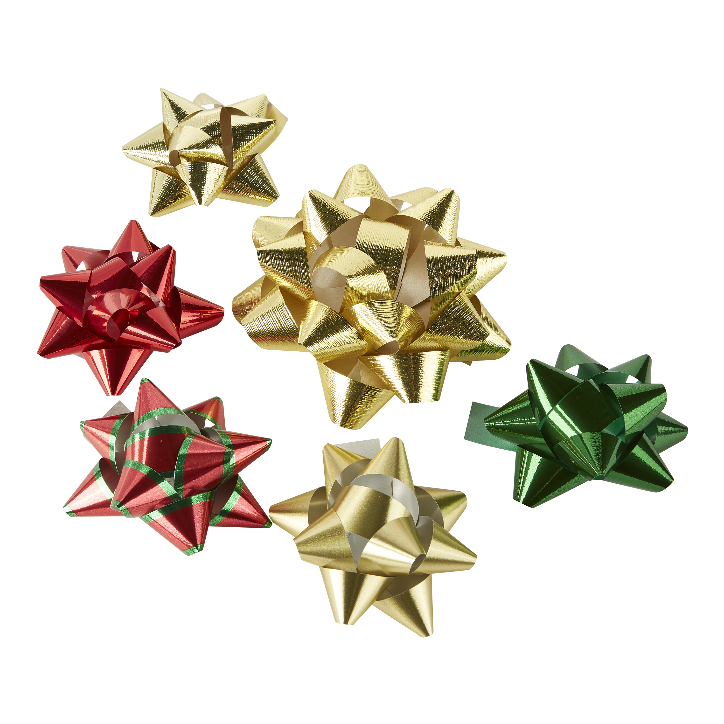 Holiday Time Assorted Red, Green, Gold Gift Bows, 42 count