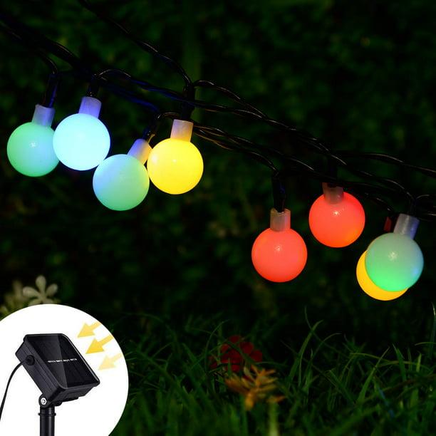 50 Garden Solar LED Light Fairy Multi Color Flower Bulb Globe String Waterproof