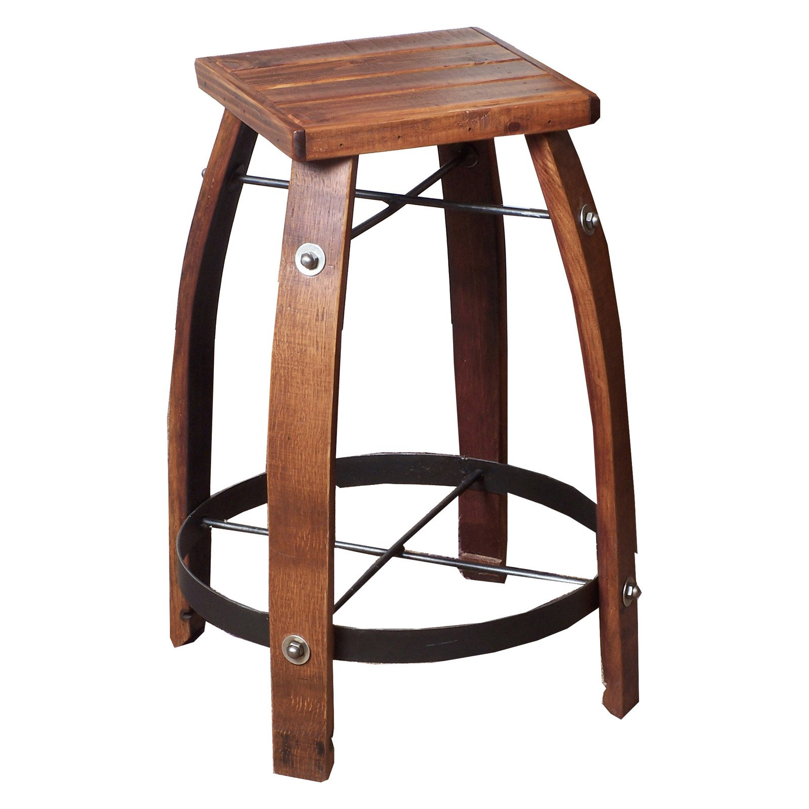 2 Day Designs Reclaimed 30 in. Stave Bar Stool