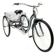 "26"" Schwinn Meridian Adult Tricycle, Silver"