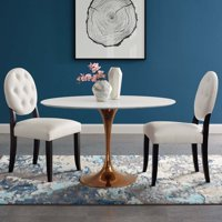 """Lippa 48"""" Oval Dining Table in Rose White"""
