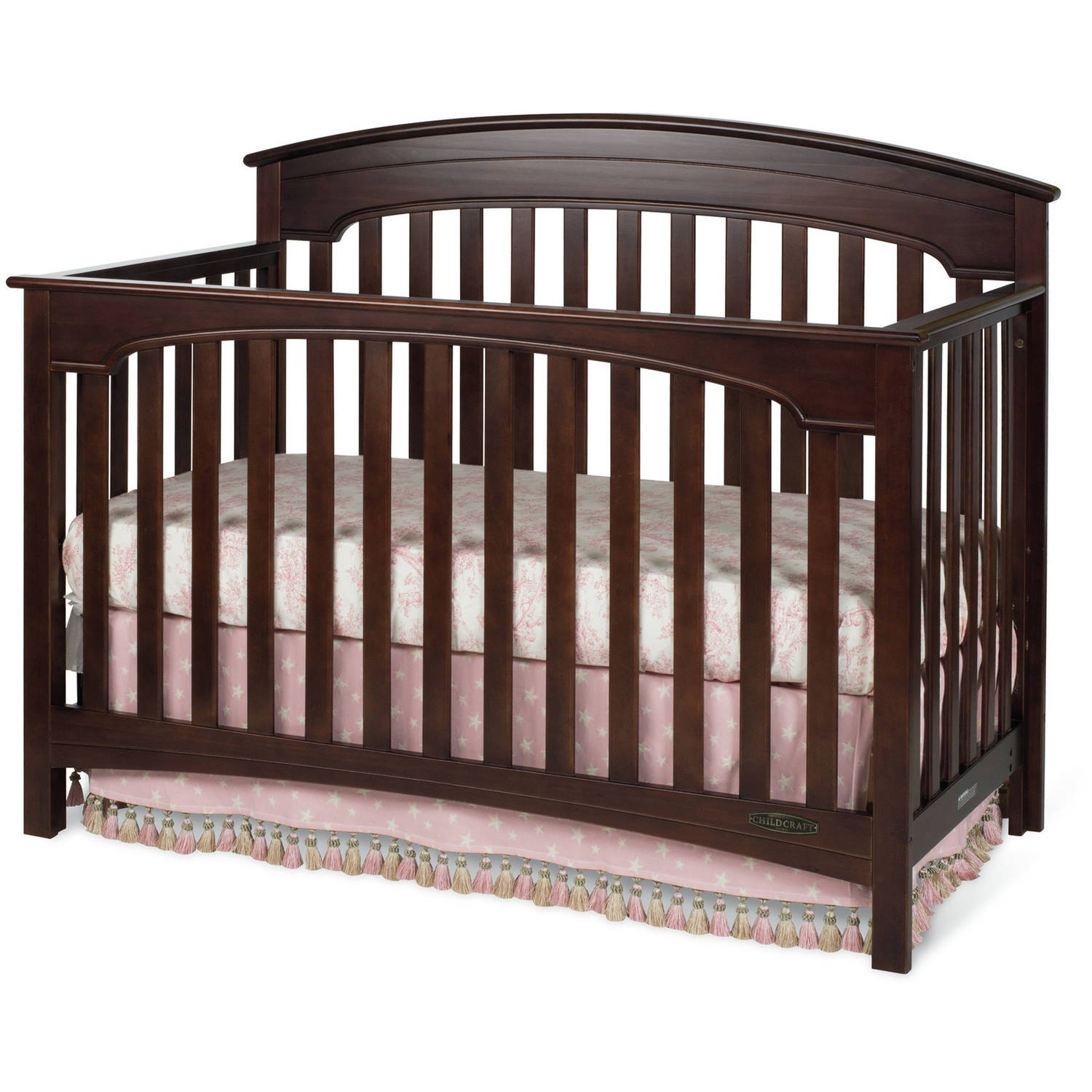 Child Craft Stanford 4-in-1 Convertible Crib, Select Cherry