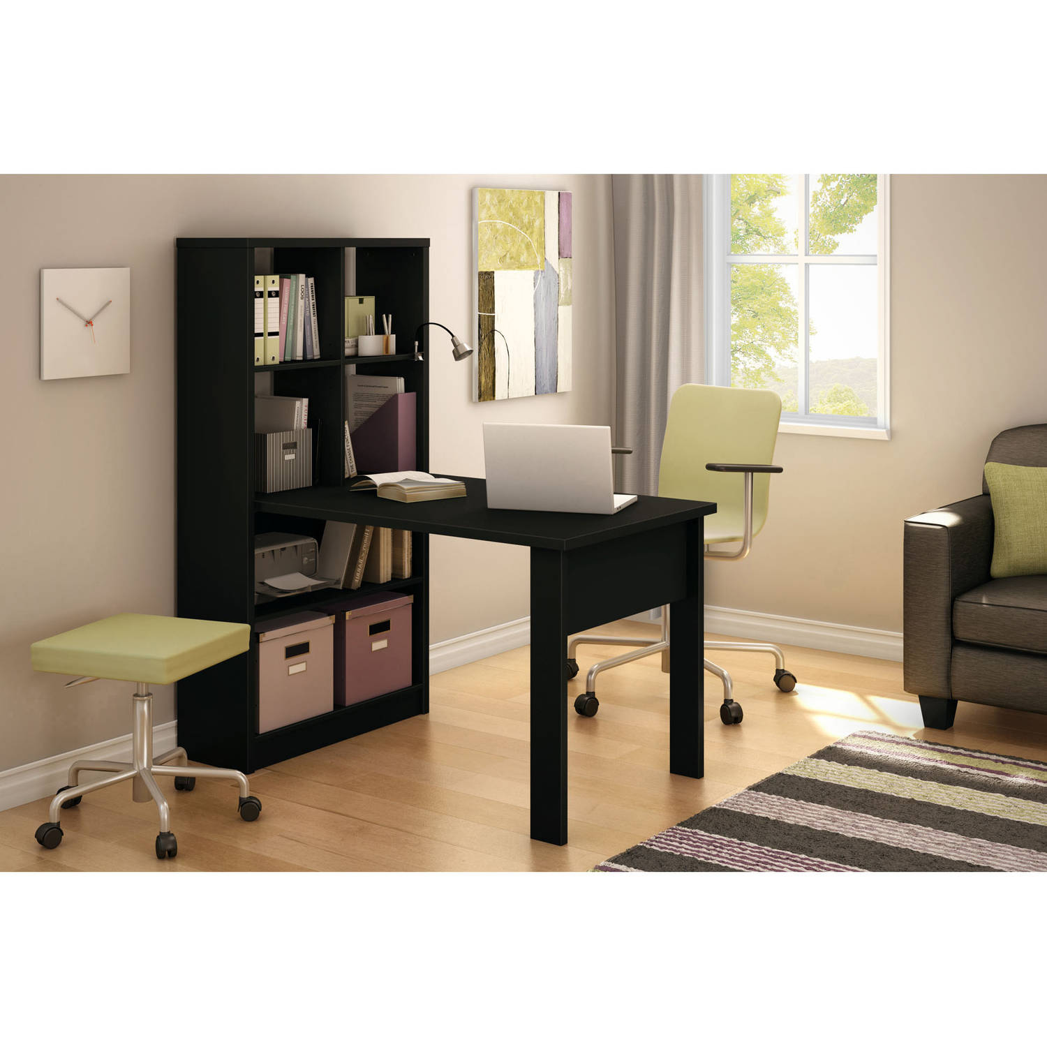 South Shore Annexe Work Table and Storage Unit Combo, Multiple Finishes