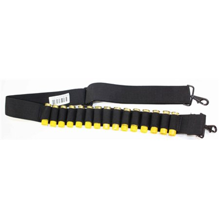 15 RD Shotgun 20 Gauge Bandolier Ammo Shell Tactical Hunting 2 point Sling Black, shotgun accessories. thumbnail