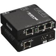 Black Box LBH101A-H Black Box Hardened Convenient Switch, 100-240 VAC - 4 Ports - 10/100Base-TX - 2 Layer Supported - Rack-mountable, Rail-mountable - 3 Year