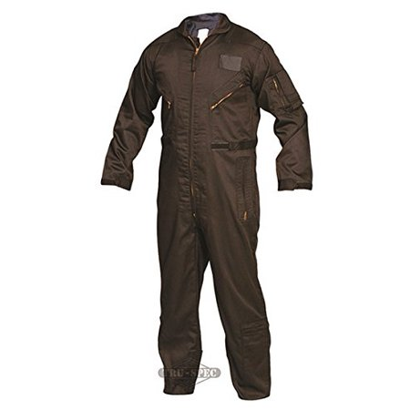 2653025 27-P Basic Flight Suit, Large Long, Black