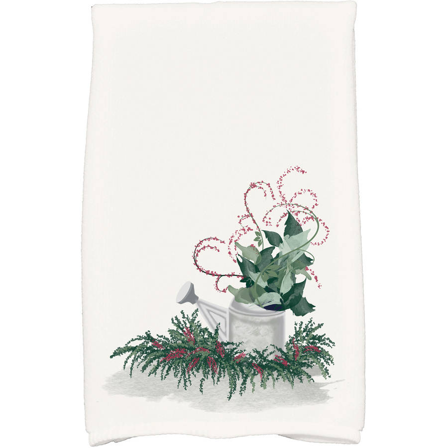 Gardener's Holiday Delight Geometric Print Kitchen Towel by E By Design