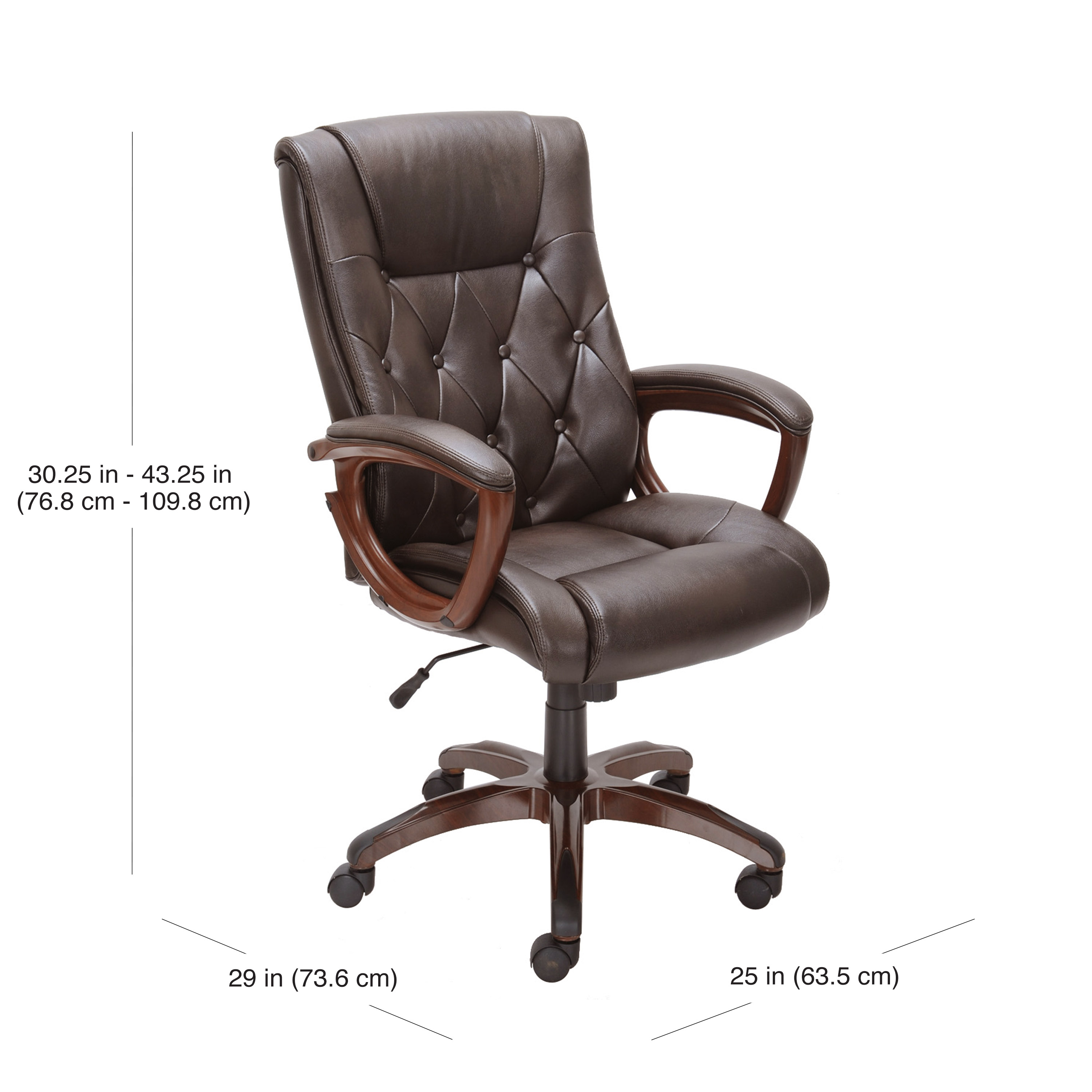 Peachy Better Homes And Gardens Bonded Leather Executive Office Short Links Chair Design For Home Short Linksinfo