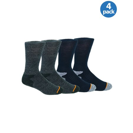 WEATHERPROOF Premium Wool Blend Crew Socks Blue and Gray 4 Pairs Sizes