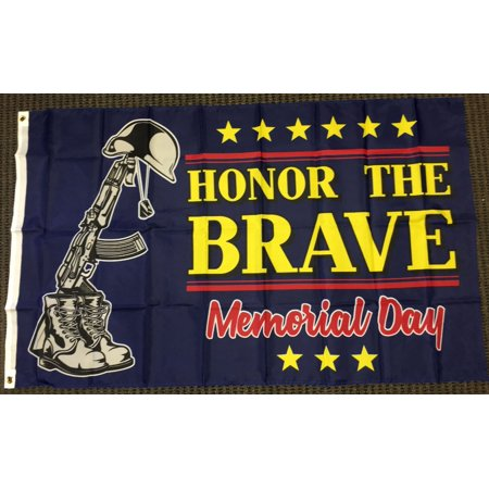 Veterans Day Flag (3x5 Honor The Brave Memorial Day Flag Holiday Honoring Fallen Military)