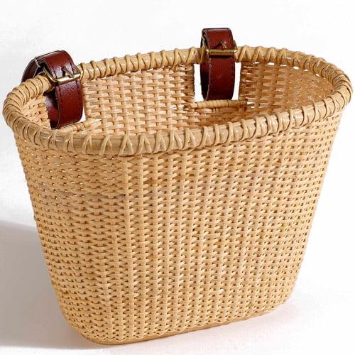 Child's Lightship Basket, Oval, Natural