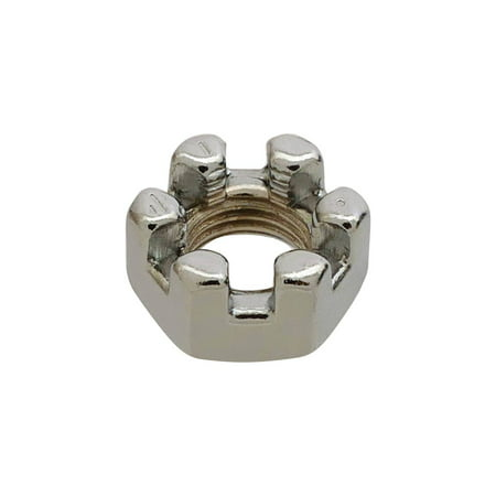 MACs Auto Parts  16-53752 Castle Nut - Chrome -