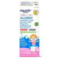 Equate Sugar Free Loratadine Allergy Syrup, Bubble Gum, 4oz