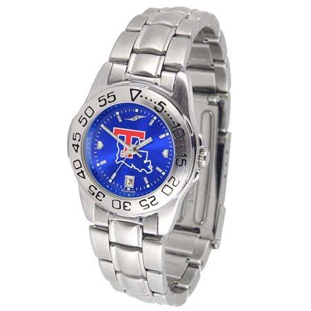 (Louisiana Tech Sport Anonized Women's Steel Band Watch)
