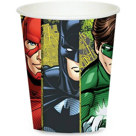 Justice League 9 oz Paper Cups, 8pk