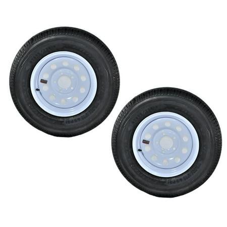 2-Pack Goodyear Endurance Trailer Tire On Rim ST205/75R14D 5-4.5 White Modular