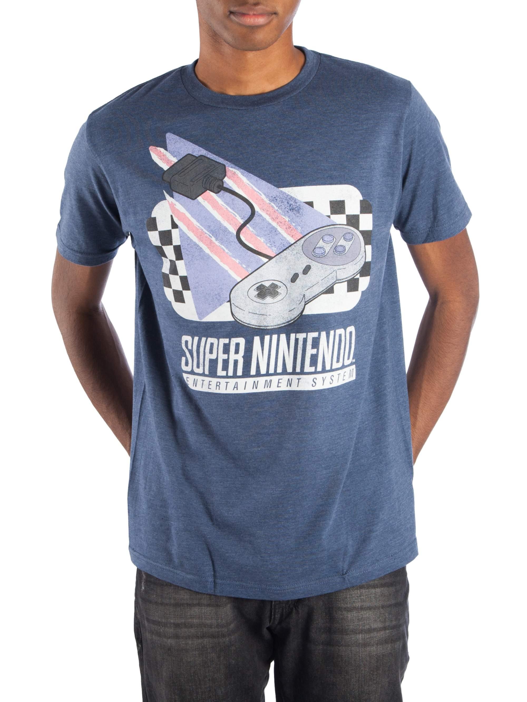 Super Nintendo Controller Men's Short Sleeve Graphic T-shirt, Up To 4XL