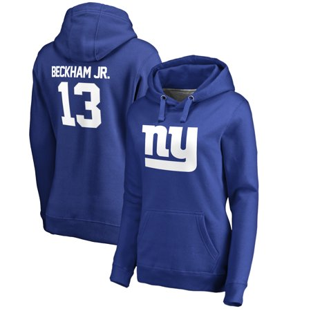 f48675440 Odell Beckham Jr New York Giants NFL Pro Line by Fanatics Branded Women s  Player Icon Name   Number Pullover Hoodie - Royal - Walmart.com