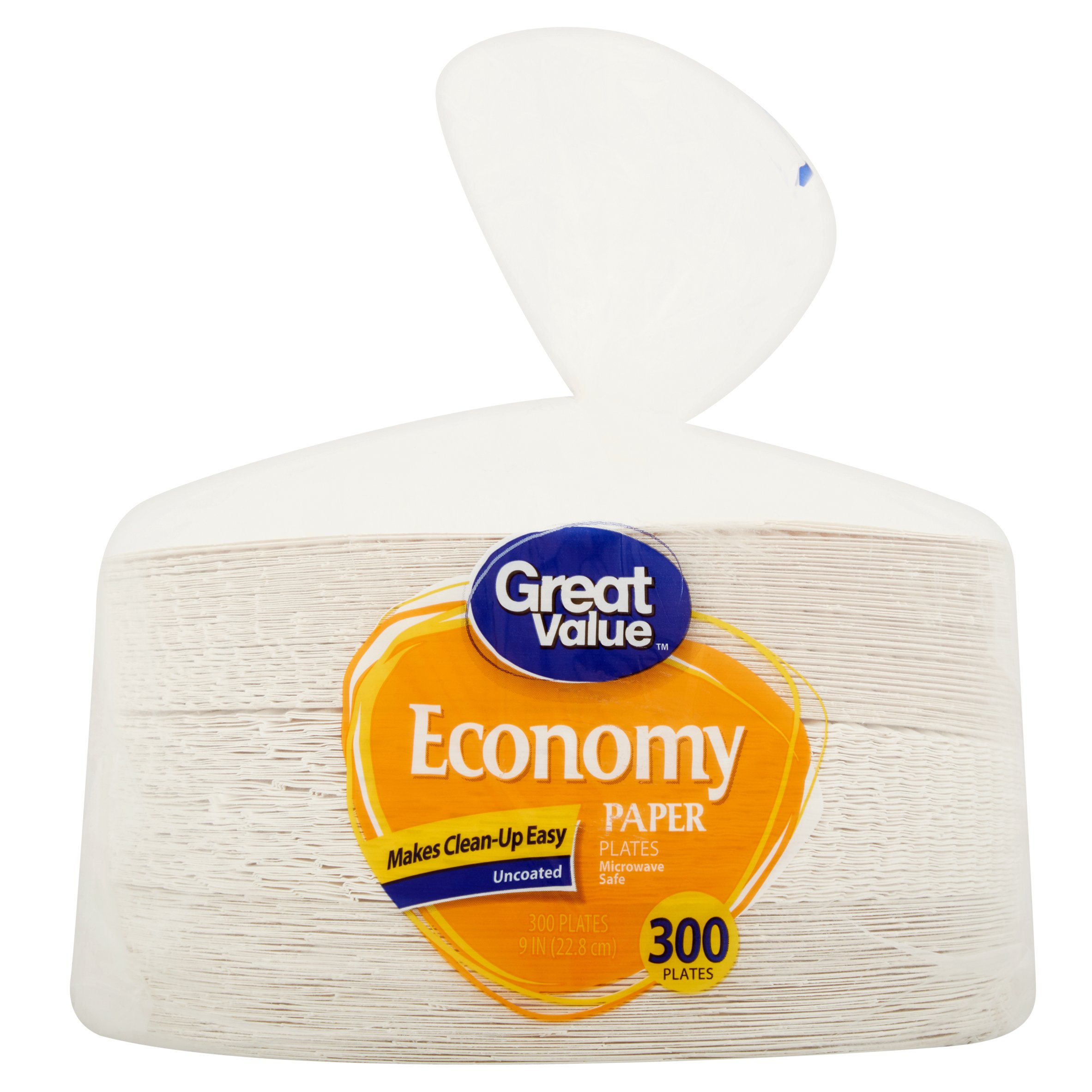 "Great Value Economy Paper Plates, 9"", 300 Count"