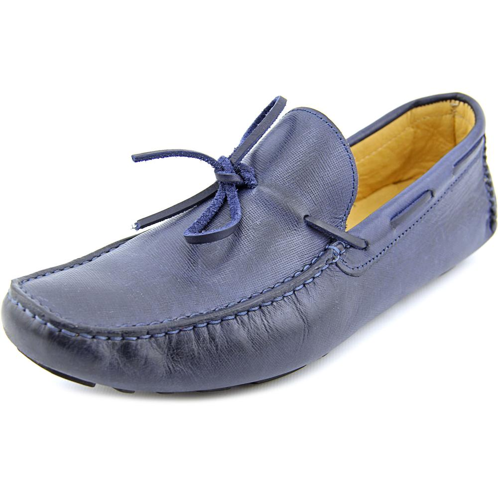 Mercanti Fiorentini Saffiano Camp Moc Men  Moc Toe Leather  Loafer