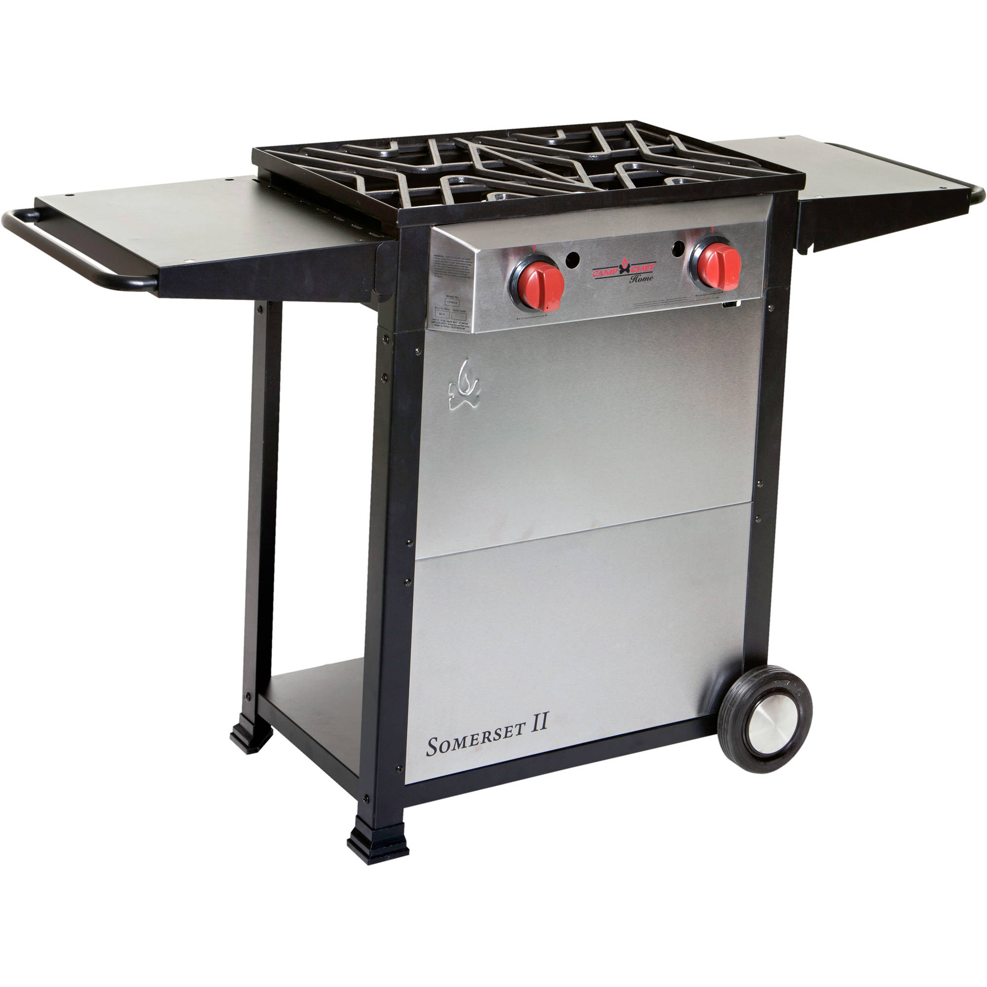 Camp Chef Somerset II Double Burner Cart Range with Wheels