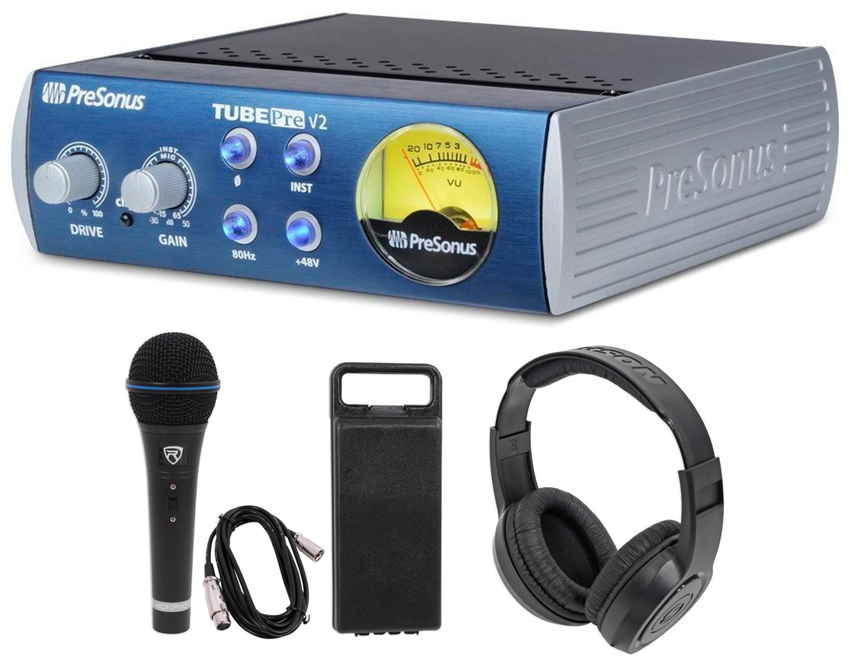 Presonus TubePre V2 Vacuum Tube Preamp+DI Direct Box+Microphone + Headphones by PreSonus