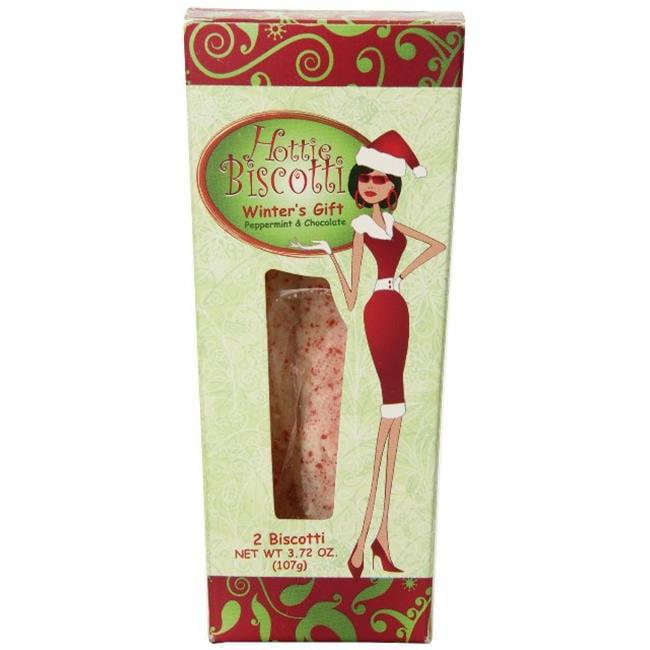 Hottie Biscotti WGMUG Winters Gift Mug & 2 Pack Biscotti, Peppermint & White Chocolate by Hottie Biscotti