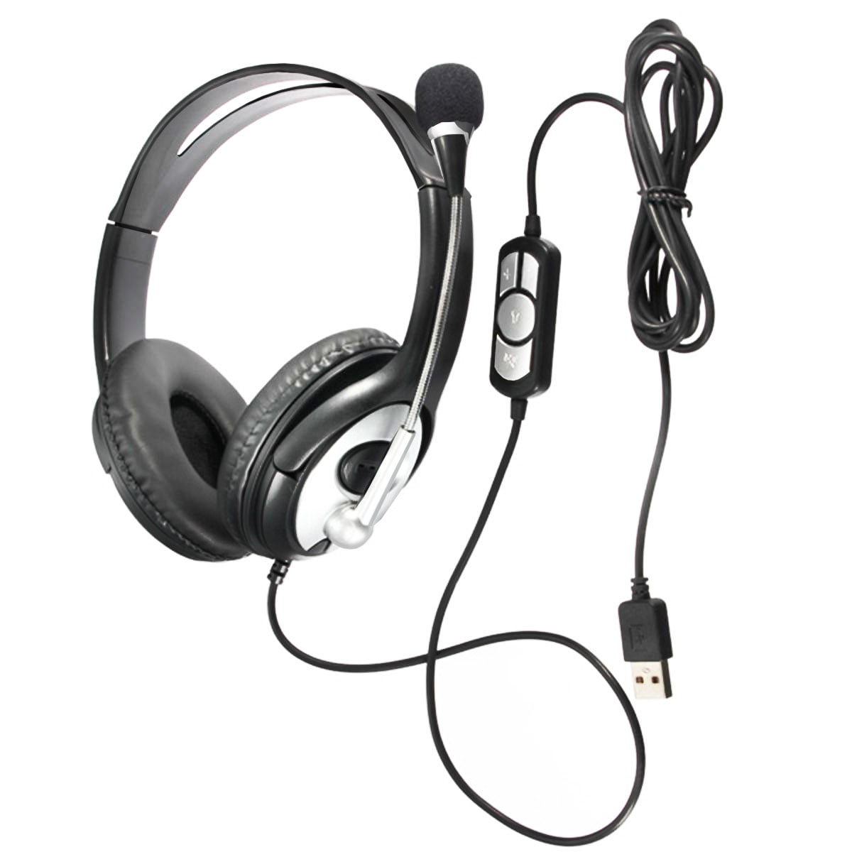 Voice Chat, Business Skype VOIP Headset in-line Control for Call Center Webinar Online Conference Gaming Headset// 3.5mm PC Headset Lightweight Computer Headphone with Microphone Noise Cancelling