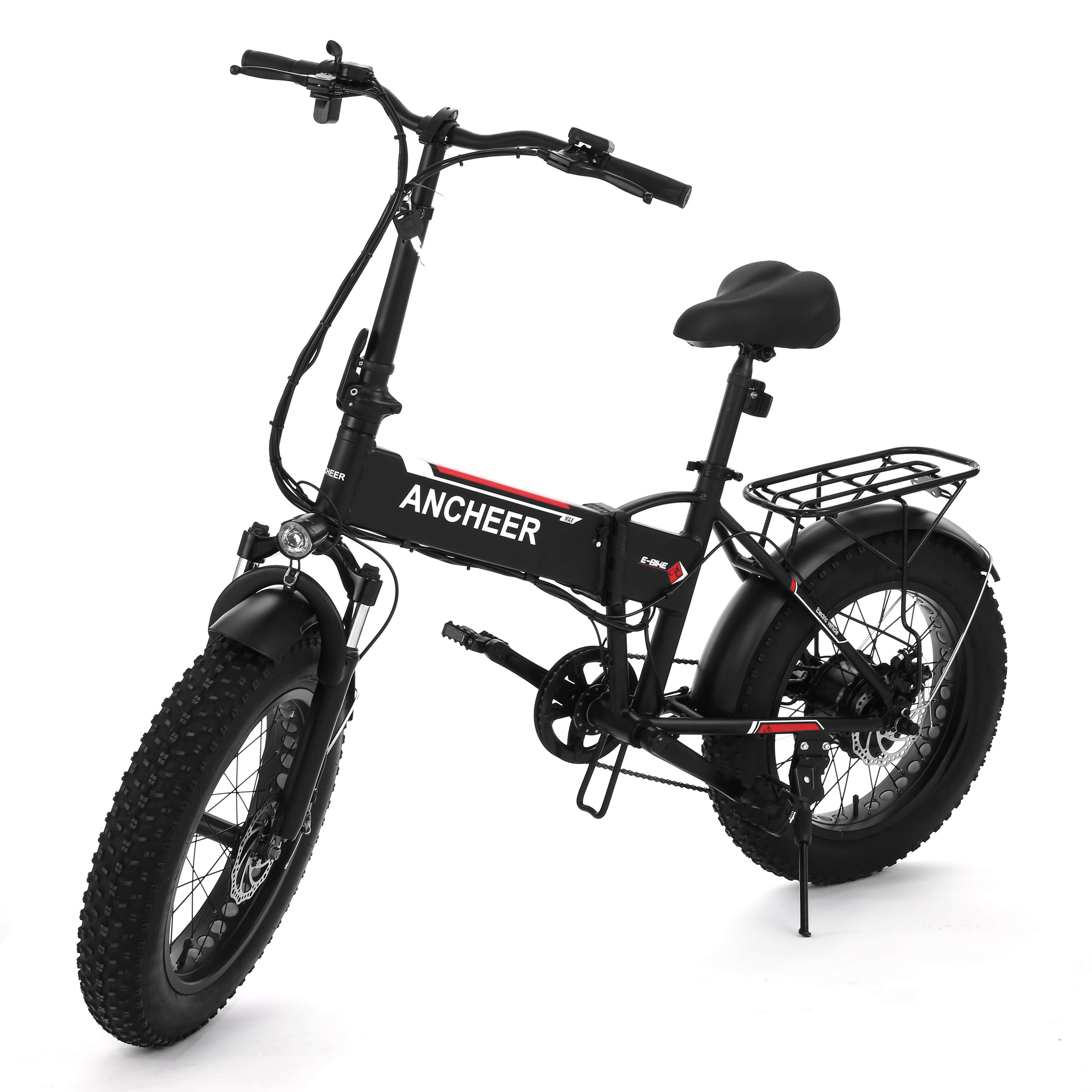 20 inch Folding Electric Bikes Fat Tire 6-Speed E-bike Snow Mountain Bicycles with 48V Lithium Battery