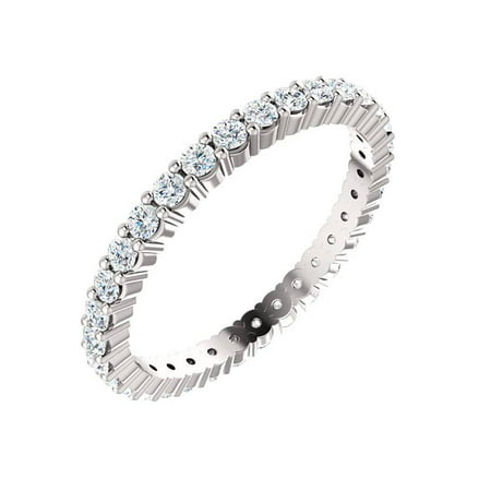 Moissanite Platinum Eternity Ring Band - Platinum Diamond Eternity Ring 5/8 ct Womens Wedding Anniversary Band Stackable