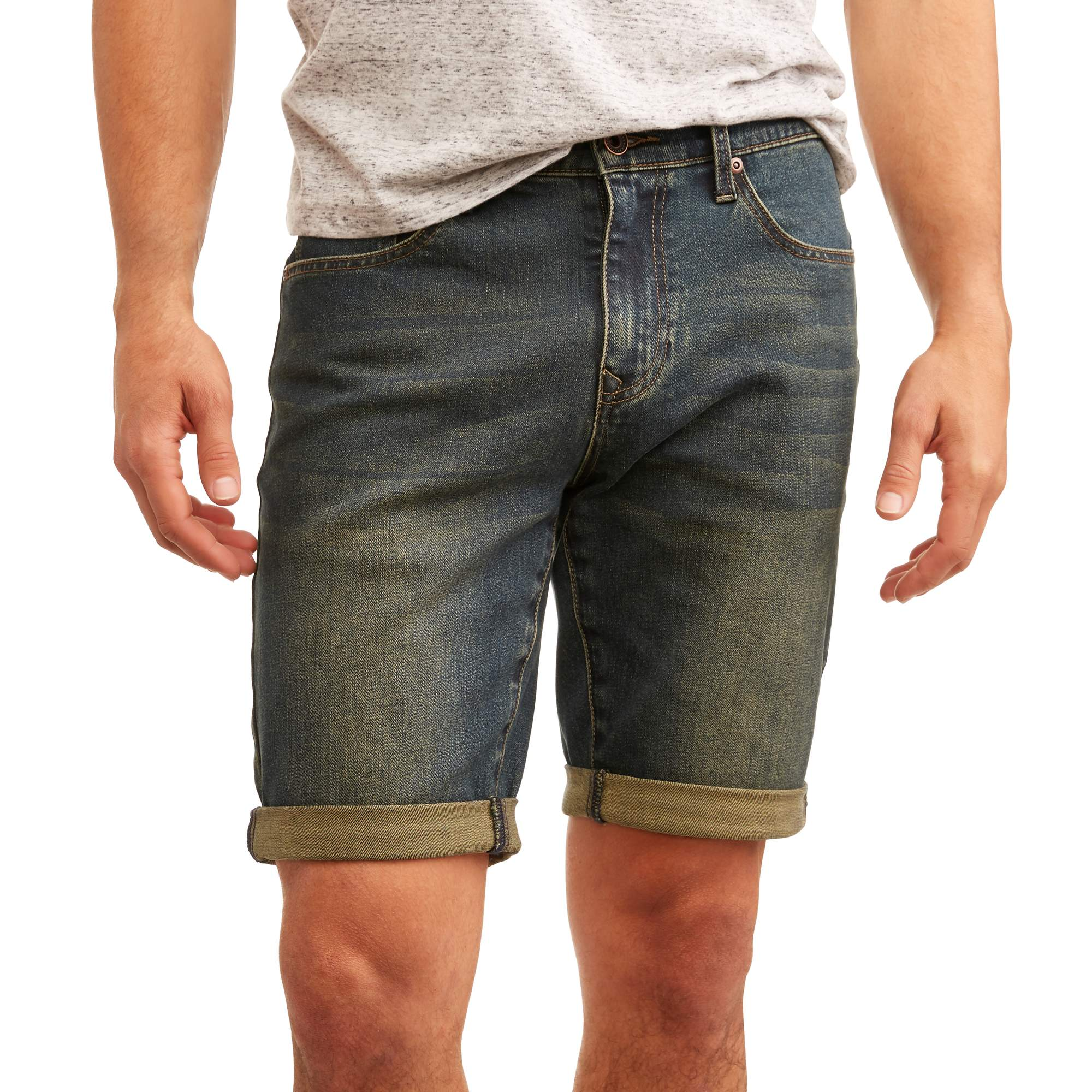 Men's Flex Slim Straight Fit Denim Shorts