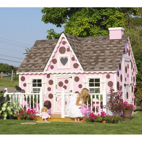 Little Cottage 8 x 10 Victorian Wood Playhouse