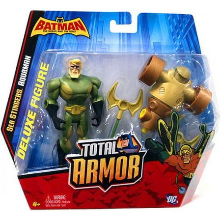 Batman The Brave And The Bold Total Armor Aquaman Figure Set  Sea Stingers