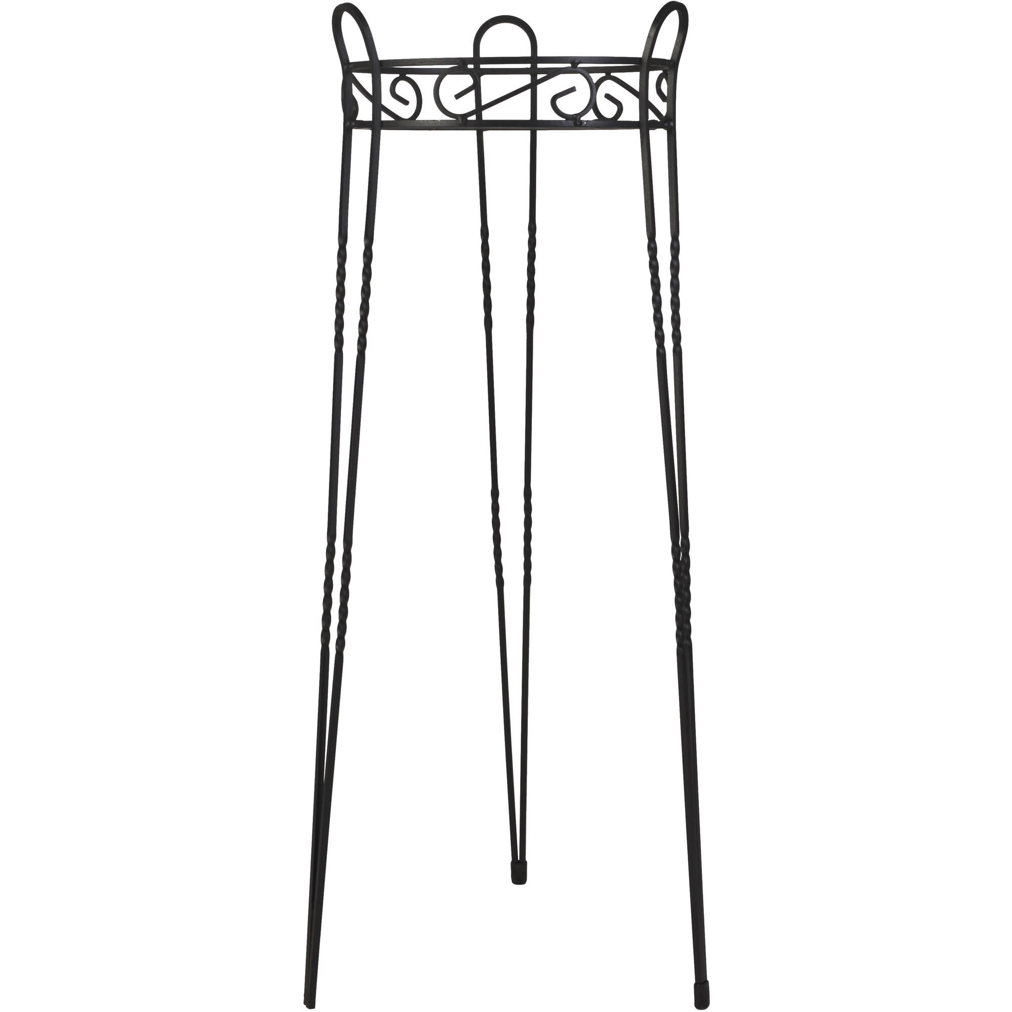 "CobraCo Canterbury 30"" Black Scroll Top Plant Stand by CobraCo"