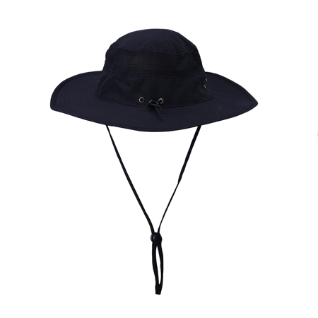 HDE Mens Mesh Bucket Hat Outdoor UV Sun Protection Wide Brim Booney Fishing Cap ()