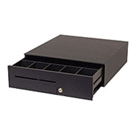 Refurbished APG Cash Drawers Series 100 T371-BL16195 Havy Duty Compact Cash Drawer with Epson Interface Cable - Black Cash Drawer Compact