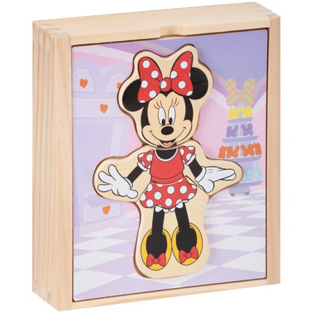 Melissa & Doug Disney Minnie Mouse Wooden Mix and Match Dress-Up](Melissa And Doug Toys)