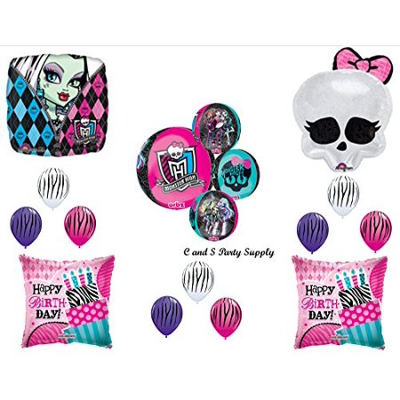 MONSTER HIGH ORBZ Skullette Birthday Party Mylar Balloon Decorations Supplies - Monster High Birthday Party Games
