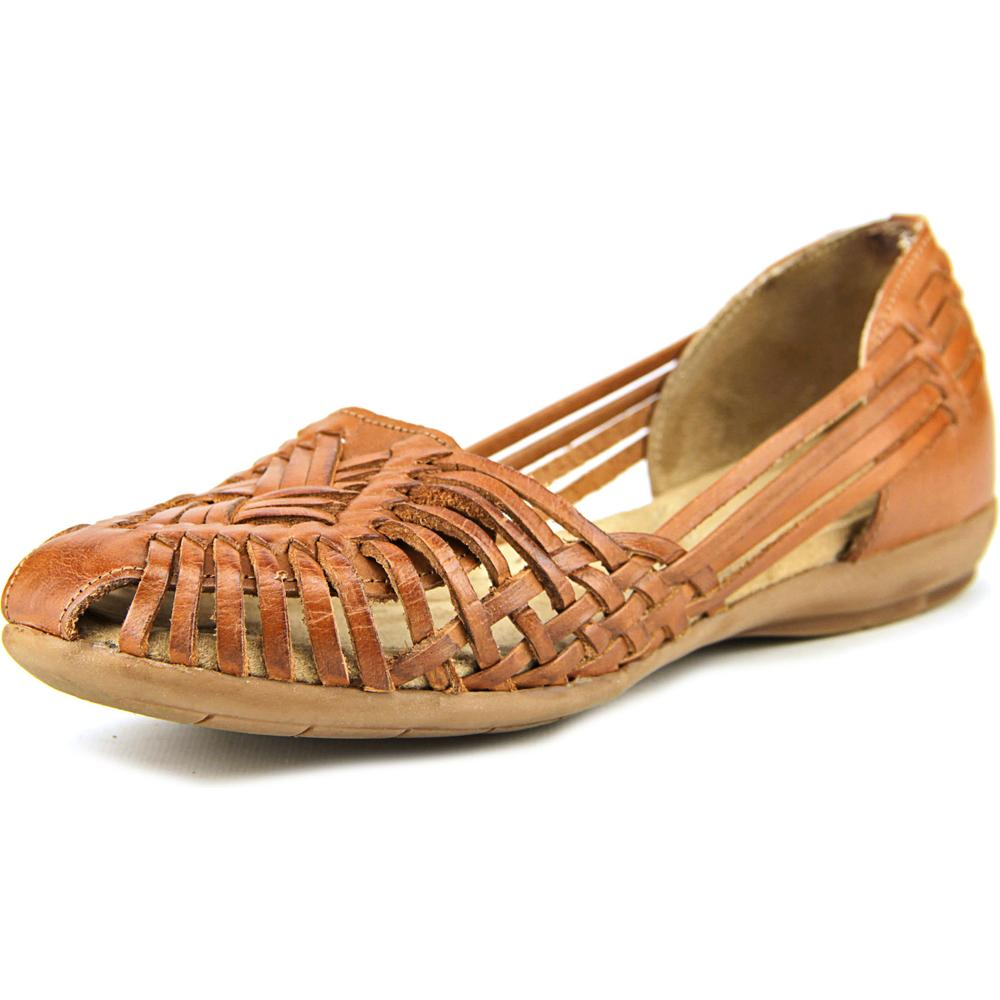 Naturalizer Gobi Women Round Toe Leather Brown Flats by Naturalizer