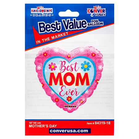 New 381081  Hm Best Mom Ever Flowers Heart Single Pk (10-Pack) Mothers Day Cheap Wholesale Discount Bulk Seasonal Mothers Day Cup
