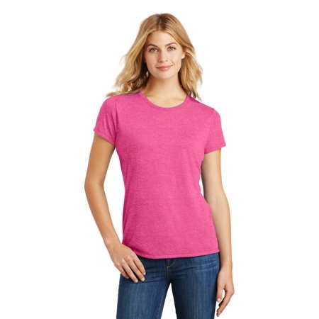 District Made® Ladies Perfect Tri® Crew Tee. Dm130l Fuchsia Frost Xxl - image 1 of 1