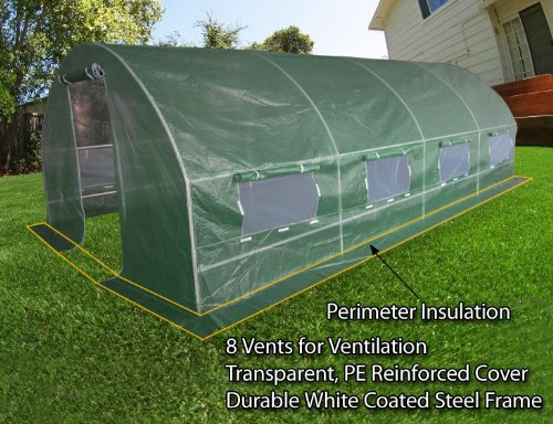 Quictent Updated Design 2 Doors 20'x10'x6' Portable Greenhouse Large Walk-in Green Garden... by