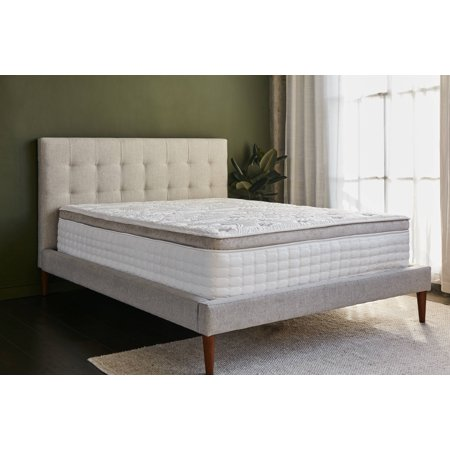 "Bh Elements Grand 14"" Gel Memory Foam Pocketed Spring Hybrid Eurotop Mattress, King Size"