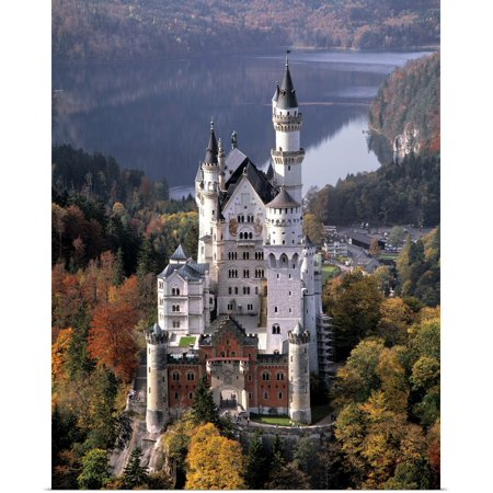 Great BIG Canvas | Rolled Ric Ergenbright Poster Print entitled Germany, Neuschwanstein Castle (Castle Poster Print)