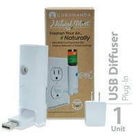 Guru Nanda Waterless Wall Plug-In Diffuser - White